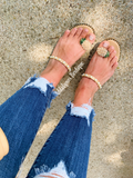 Pineapple pearl Sandals
