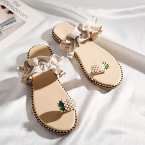 Pineapple Ruffle Sandals
