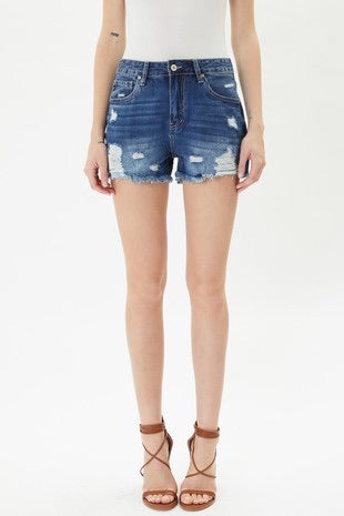 Daisy Distressed KanCan Shorts
