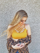 Load image into Gallery viewer, Strapy Sara Bralette MUSTARD