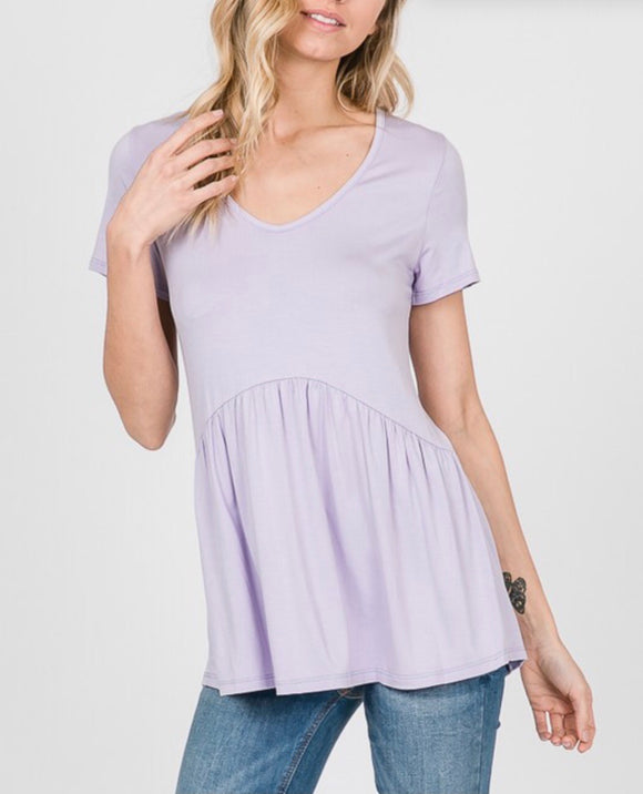 Lilac Baby Doll Top