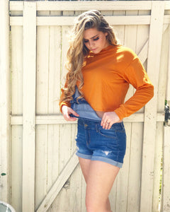 Camila Orange Cropped Sweatshirt