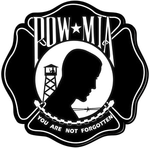 POW MIA Maltese Cross Reflective Decals