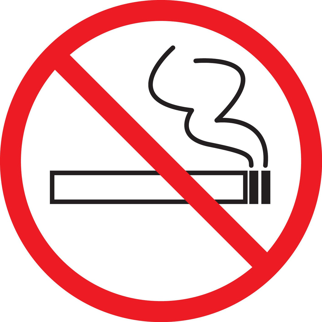 No Smoking Round Decal
