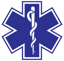 Load image into Gallery viewer, Standard Blue Star Of Life Decals