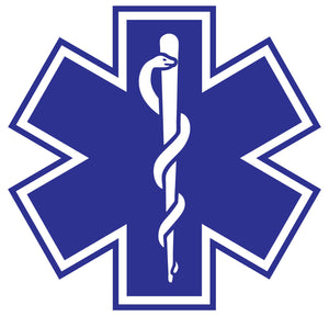 Standard Blue Star Of Life Decals