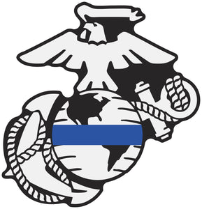 Thin Line USMC EGA Decals - Thin Blue Line
