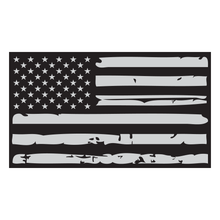 Load image into Gallery viewer, Distressed American Flag Reflective Vinyl Decal