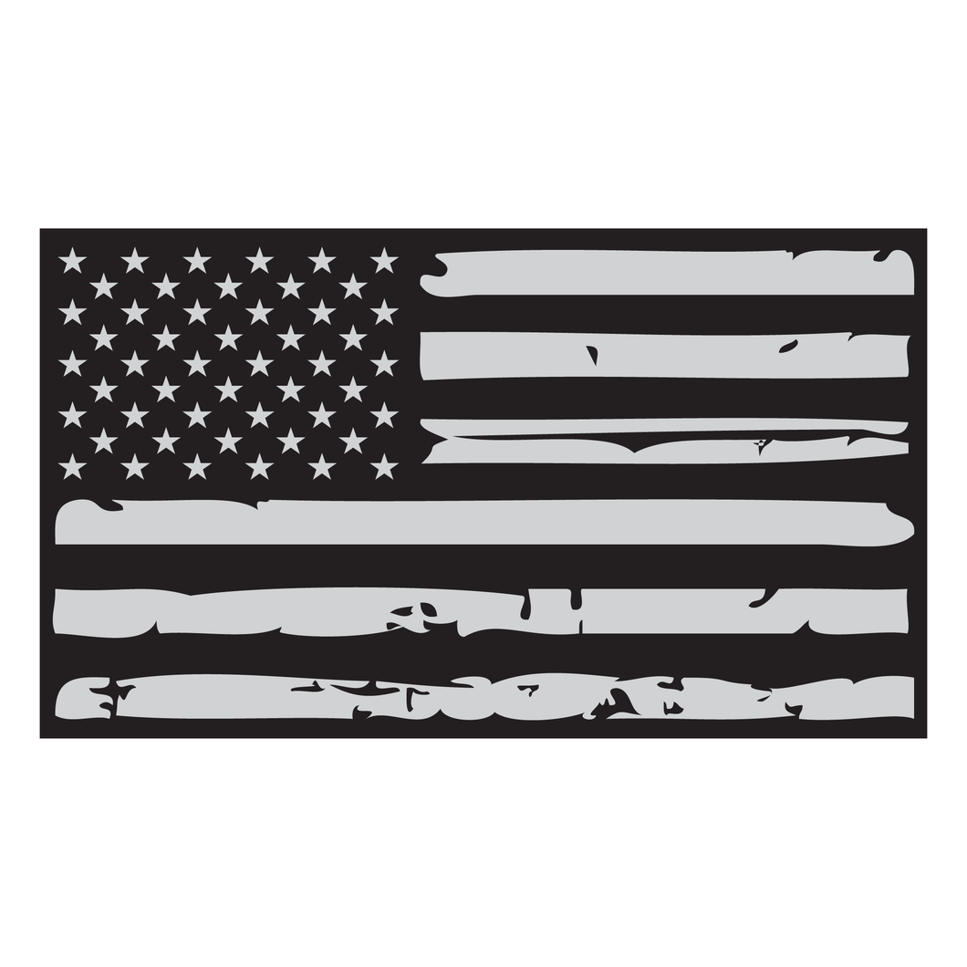 Distressed American Flag Reflective Vinyl Decal