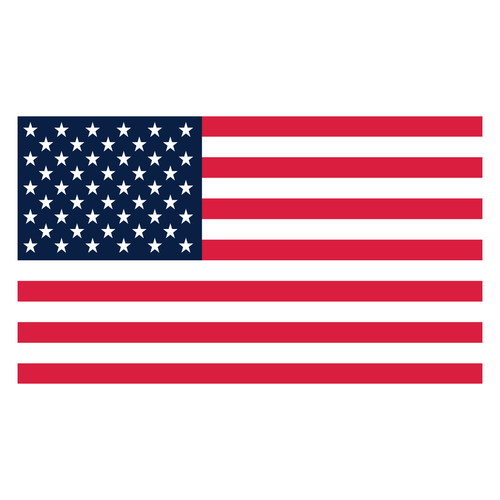 Standard American USA Reflective Vinyl Decal