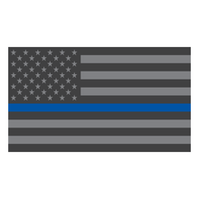 Load image into Gallery viewer, Thin Blue Line Subdued American Flag Reflective Vinyl Decals