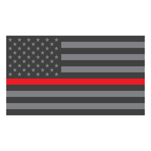 Thin Red Line Subdued American Flag Reflective Vinyl Decals