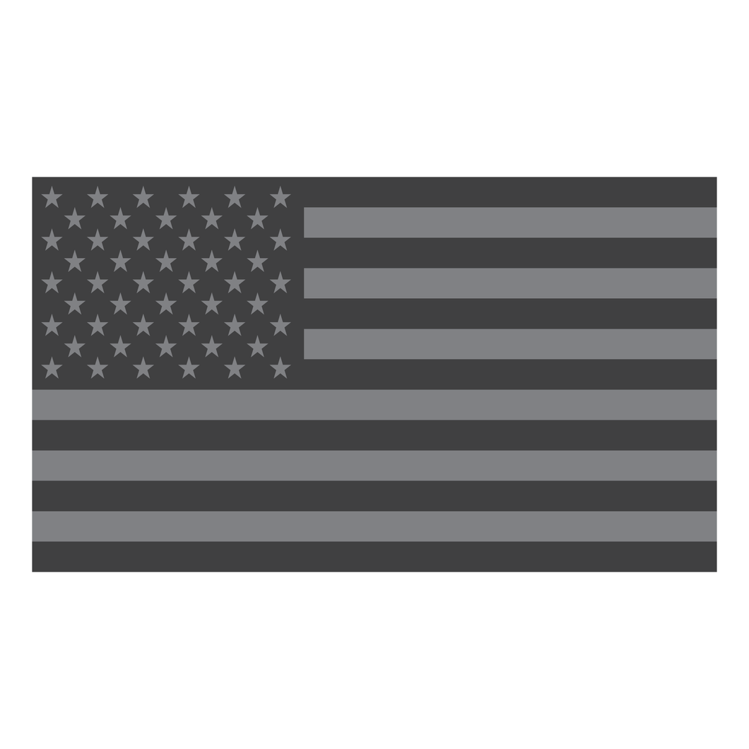 Subdued American Flag Reflective Vinyl Decals