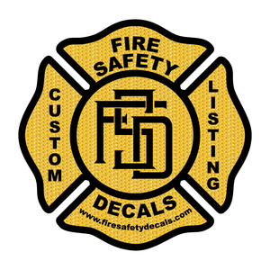 Custom Listing for Chad R. - Fire Safety Decals