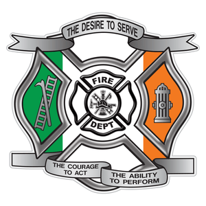 Irish Flag Desire To Serve Maltese Cross Reflective Decal