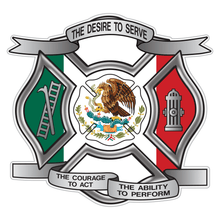 Load image into Gallery viewer, Mexican Flag Desire To Serve Maltese Cross Reflective Decal