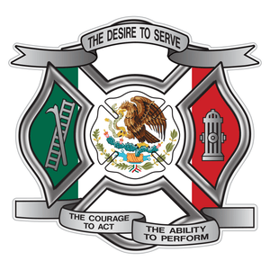 Mexican Flag Desire To Serve Maltese Cross Reflective Decal