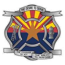 Load image into Gallery viewer, Arizona Desire To Serve Maltese Cross Reflective Decal