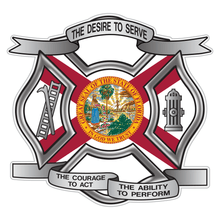 Load image into Gallery viewer, Florida Desire To Serve Maltese Cross Reflective Decal