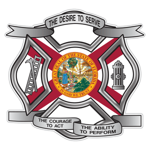 Florida Desire To Serve Maltese Cross Reflective Decal