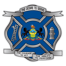Load image into Gallery viewer, Pennsylvania Desire To Serve Maltese Cross Reflective Decal