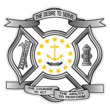 Load image into Gallery viewer, Rhode Island Desire To Serve Maltese Cross Reflective Decal