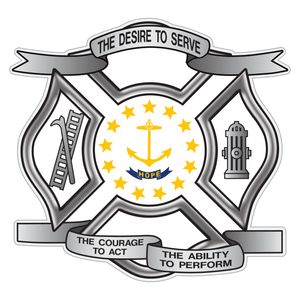 Rhode Island Desire To Serve Maltese Cross Reflective Decal