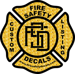 Custom Listing for D. Derrick - Fire Safety Decals