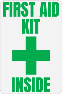 First Aid Kit Inside Solid Color Reflective Decal - Fire Safety Decals
