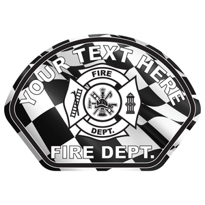Checkered Flag Helmet Front Reflective Vinyl Decals