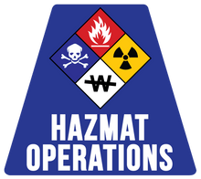 Load image into Gallery viewer, HazMat Operations Solid Color Helmet Tetrahedron Reflective Decals