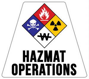 HazMat Operations Solid Color Helmet Tetrahedron Reflective Decals
