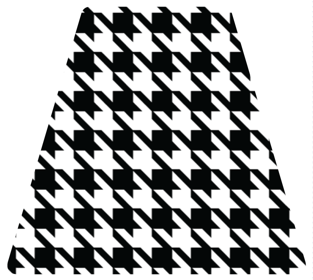 Houndstooth Tetrahedron Reflective Decals