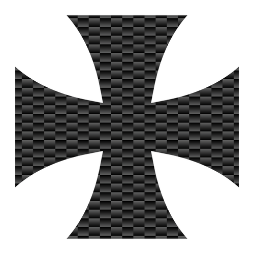 Carbon Fiber Iron Cross Reflective Vinyl Decals