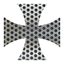 Load image into Gallery viewer, Perforated Metal Iron Cross Reflective Vinyl Decals