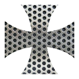 Perforated Metal Iron Cross Reflective Vinyl Decals