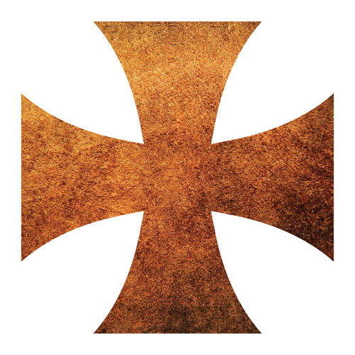 Rusted Metal Iron Cross Reflective Vinyl Decals