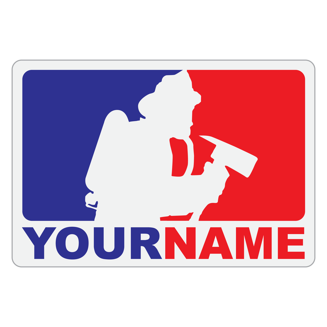 Personalized Major League Firefighter V1 Reflective Decal