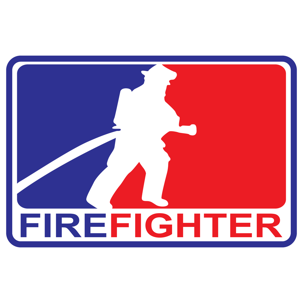 Major League Firefighter Version 3 Reflective Decals