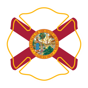 State Flag Maltese Cross Reflective Decals
