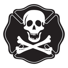 Load image into Gallery viewer, Skull & Bones Maltese Cross Reflective Decals