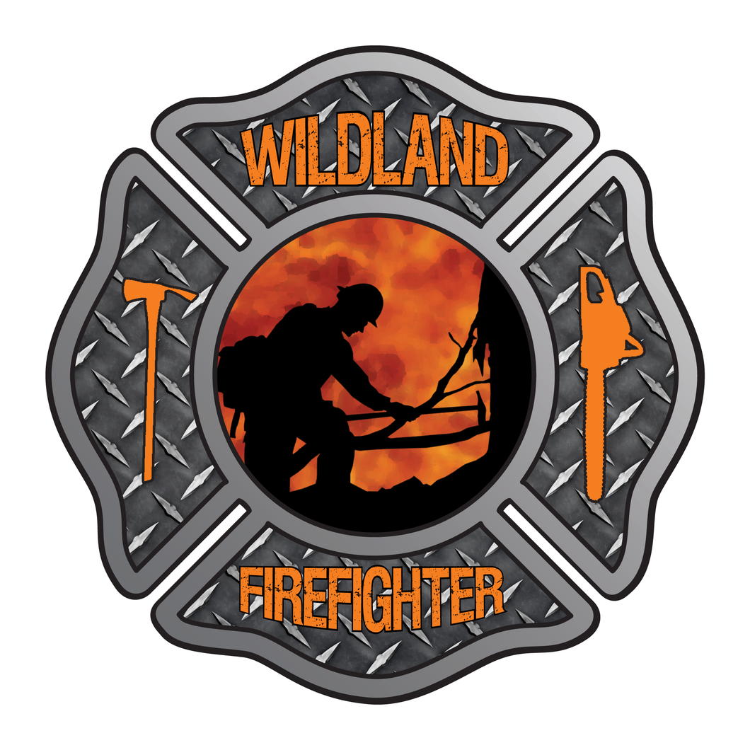 Wildland Firefighter Maltese Cross Reflective Decals
