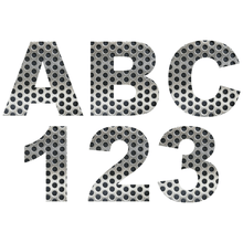 Load image into Gallery viewer, Perforated Metal Reflective Letter and Number Decals