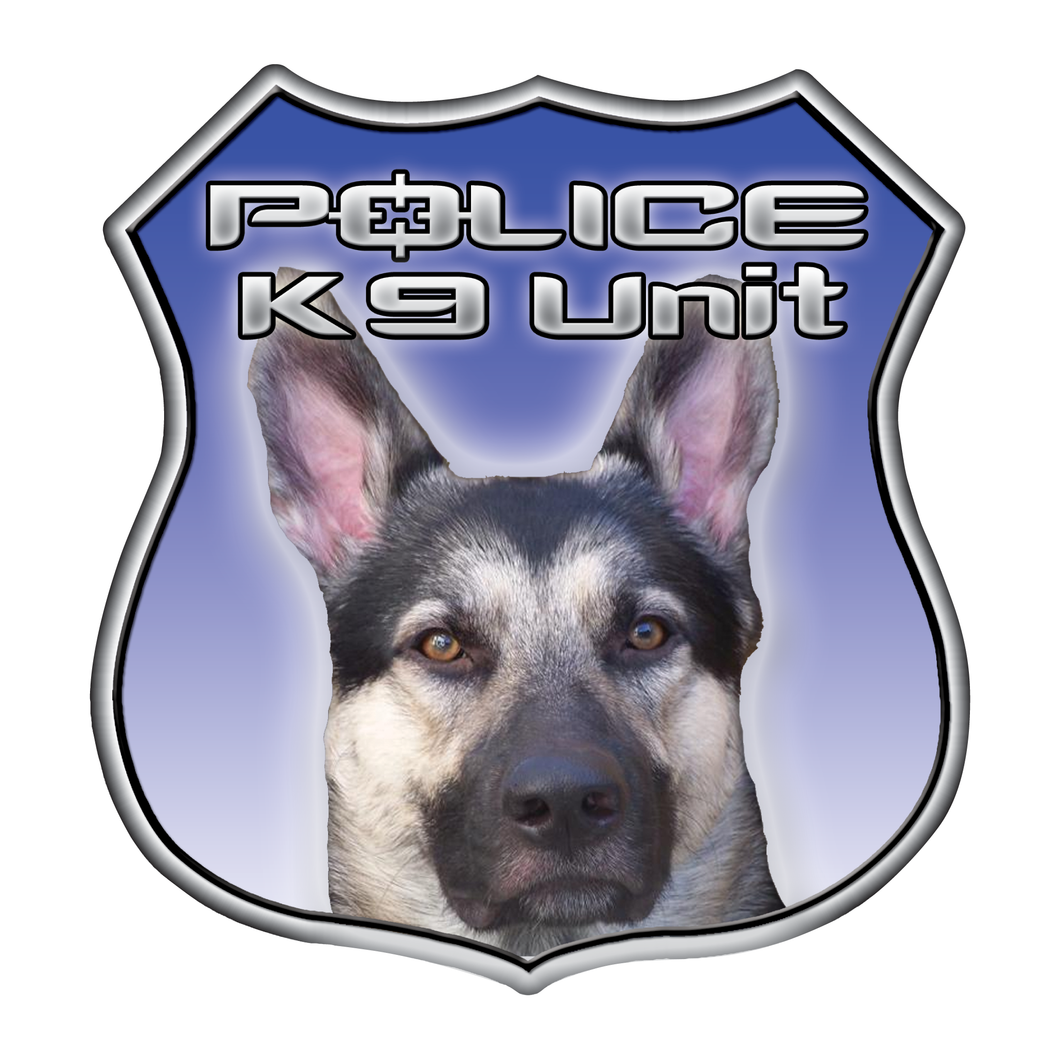 Police K9 Unit Shield Reflective Decals
