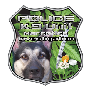 Police K9 Narcotics Unit Shield Reflective Decal