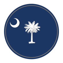 Load image into Gallery viewer, State Flag Round Reflective Decals