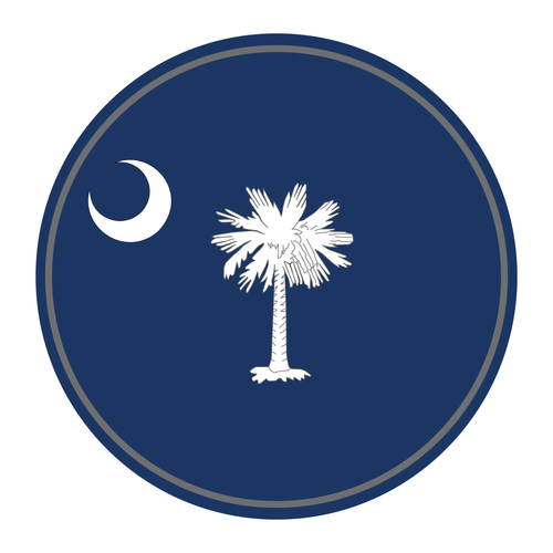 State Flag Round Reflective Decals