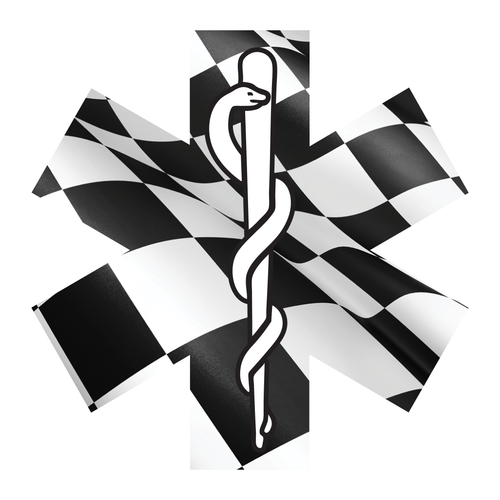 Checkered Flag Star Of Life Reflective Vinyl Decals