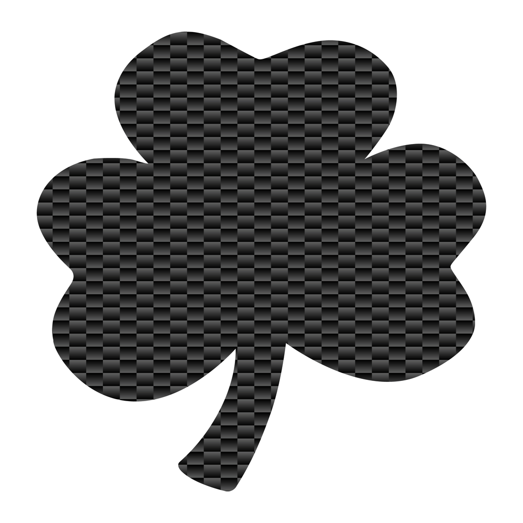 Carbon Fiber Shamrock Reflective Vinyl Decals
