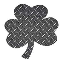 Load image into Gallery viewer, Black Diamond Plate Shamrock Reflective Vinyl Decals
